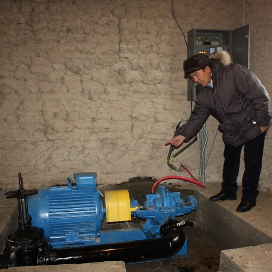 Pumping station was built to supply Tor-Kamysh village with irrigation water